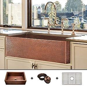 51200Jo55NL._SS300_ Copper Farmhouse Sinks & Copper Apron Sinks