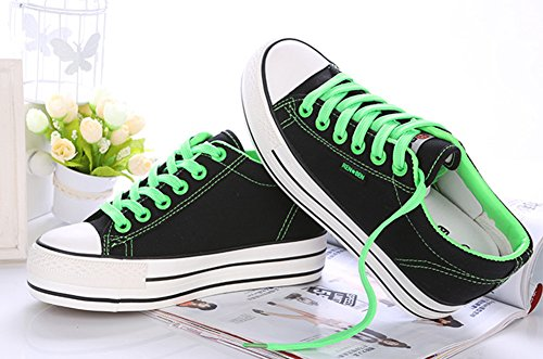 Product image of Aisun Women's Casual Round Toe Elevator Thick Sole Lace Up Platform Canvas Sneakers Shoes