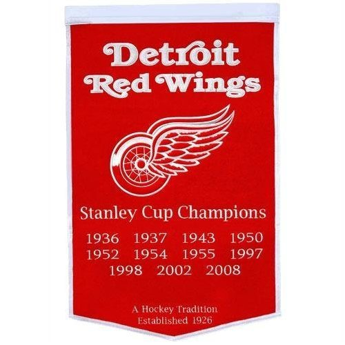 NHL Detroit Red Wings Wool Dynasty Banner