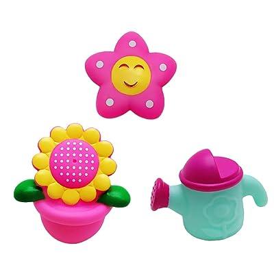 3pcs Juguetes Juegos Baño Ducha Agua Girasol Bebés: Juguetes y juegos