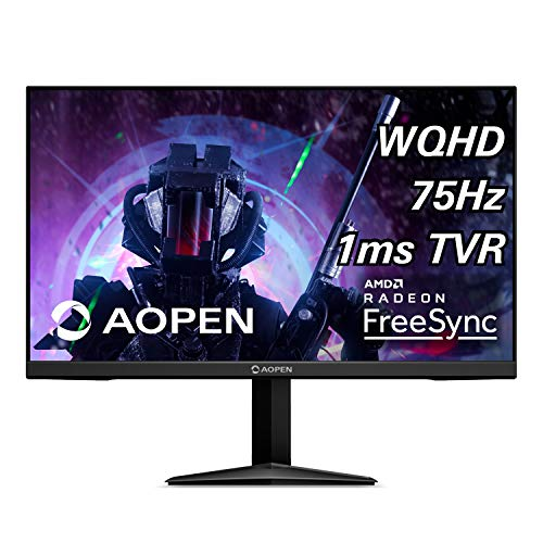 AOPEN 27ML1U bmiipx 27-inch IPS WQHD (2560 x 1440) Gaming Monitor with AMD Radeon FreeSync Technology (Display Port & 2 x HDMI 2.0 Ports)