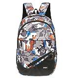 GBSELL Women Girl Travel Sport Canvas Camouflage Satchel School Bag Backpack (Orange)