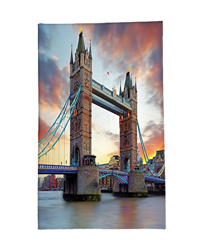 Interestlee Fleece Throw Blanket London Decor the Big Ben and the Westminster Bridge at Night in Uk Street River European Look Photo Grey (7 Dwarfs Costumes Uk)
