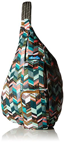 (KAVU Women's Rope Sling Bag - Coastal Blocks)