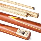 POWERGLIDE Power Glide Classic Target 2-Piece Centre Split Cue - Light Brown/Yellow, 57-Inch