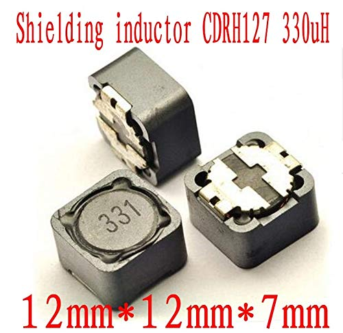 Maslin 500pcs Shielded Inductor SMD Power Inductors 12127MM 330uh CDRH127 331 SMD Patch Shielding Power Inductors CDRH127R