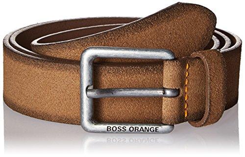 Suede Designer Belt (Boss Orange Men's Jordi Suede Leather Belt, Medium Brown,)