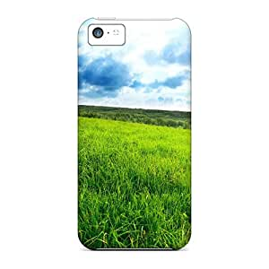 Excellent Design Nature Fields Green Field Cases Covers For Iphone 5c