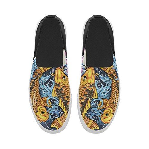 Sneaker Da Uomo D-story Koi Fish Slip-on In Microfibra