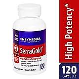 Enzymedica - SerraGold, High Potency Serrapeptase Enzymes, 120 Capsules