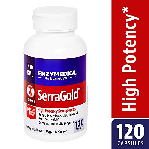Enzymedica - SerraGold, Enzyme Support for a Healthy Inflammatory Response, Cardiovascular and Immune Health, 120 Capsules
