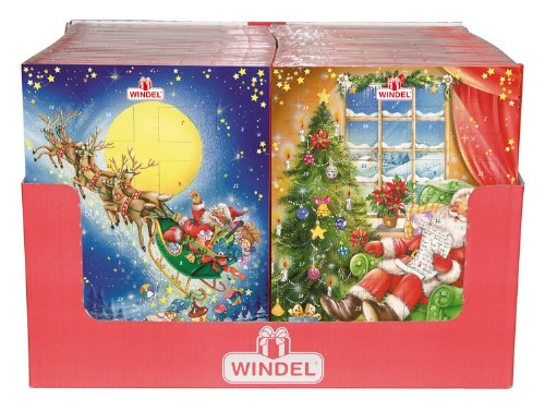 Windel Chocolate Advent Calendar (Pack of 4)