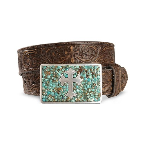 Nocona Ladies Rhinestone Western Belt,Brown,M