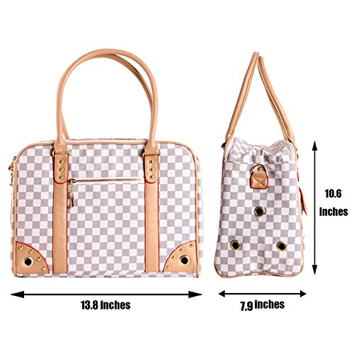 6740fc7333 Travel Pet Carrier Purse By ANGEL DOGGY- Small Dog   Cat Polyester Travel  Tote-
