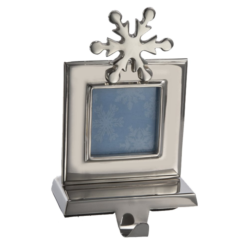 Kurt Adler 8-Inch Photo Frame Stocking Holder, Shiny Silver by Kurt Adler