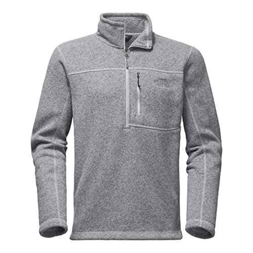 The North Face Men's Gordon Lyons 1/4 Zip Fleece - TNF Light Grey Heather - L by The North Face