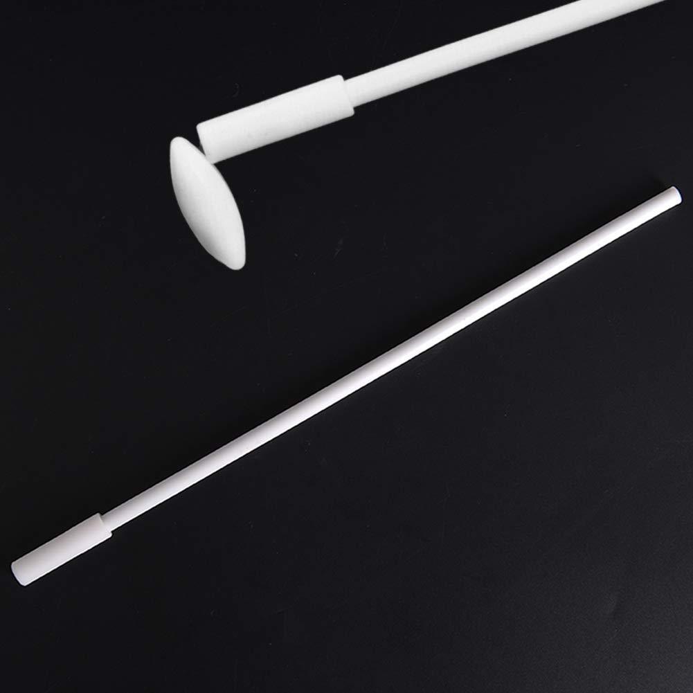 Chougui 7 Pieces Magnetic Stir Bars Egg Shape PTFE Magnetic Stirrer Mixer Stir Bar and 11.8 Magnetic Stir Bar Retriever White