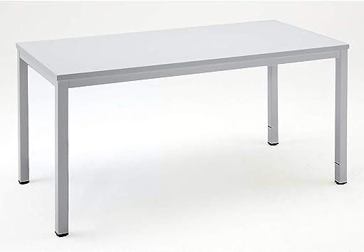 eurokraft escritorio metálico – con bandeja HPL – L x P x H 1600 x ...