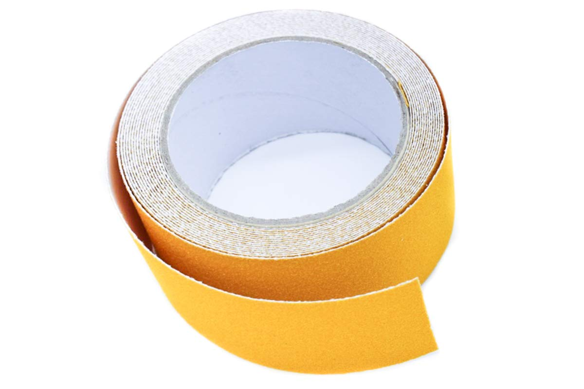 Alisan Hight Traction Anti Slip Safety Tape-4'' 16 Feet Adhesive Non Slip Strip for Stairs, Bathroom, Dishwashing Room or Other Slippery Occasion, Suitable for Indoor and Outdoor Use (4'', Yellow)
