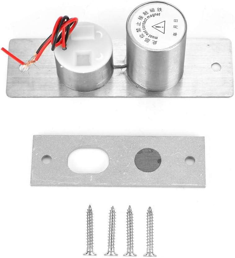Cerradura de puerta DC12V 2 cables Mini cerradura de perno eléctrico integrado Sistema de control de acceso de seguridad de puerta de vidrio