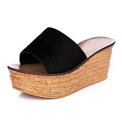 en UK7 2 HAIZHEN taille chaussures CN41 bas 4 4 Pour pour avec hauts EU40 couleurs été sortes en pantalons épais femmes Sandales femmes 8cm Couleur de Femmes dF0SxrFwq