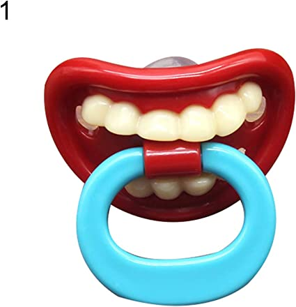 Safe non-toxic Funny Teeth Silicone Pacifier Dummy Nipple for Toddler Baby Kids