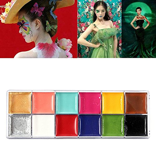 ACE Face Body Paint Oil Painting Art Make Up Halloween Party Fancy Dress 12 Flash Tattoo Color Makeup Tools