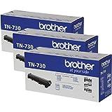 Brother TN-730 TN730 Genuine Black Toner DCP-L2550DW, HL-L2350DW HL-L2370DW, HL-L2370DW XL, HL-L2390DW HL-L2395DW MFC-L2710DW MFC-L2750DW MFC-L2750DW DCP-L2510-1,200 Pages / 3-Toner Cartridges
