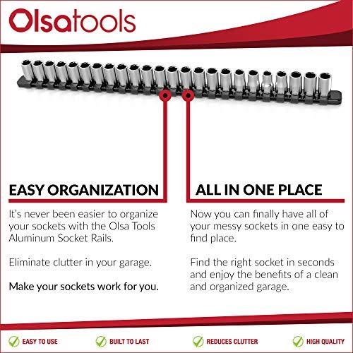 Olsa Tools1//4-Inch Drive Aluminum Socket OrganizerPremium.. Free Shipping