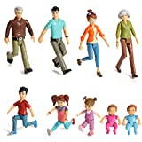 Sweet Lil Family Set of 9 Action Figure Set- Grandpa, Grandma, Mom, Dad, Sister, Brother, Toddler, Twin Boy & Girl