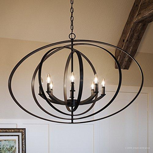 Amazon.com: Lujo Industrial Chic lámpara de araña, tamaño ...