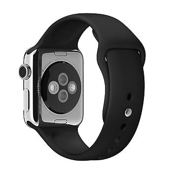 Apple MJ4G2ZM/A accesorio de relojes inteligentes Grupo de rock Negro Fluoroelastómero: Amazon.es: Electrónica