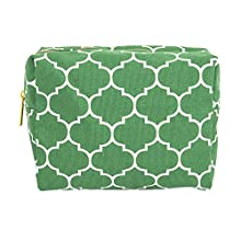 Cathy's Concepts Moroccan Lattice Cosmetic Bag, Green