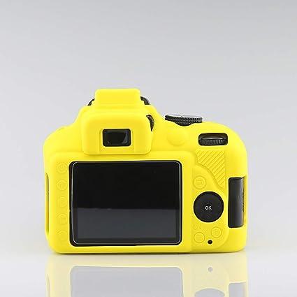VICKY-HOHO - Carcasa de Silicona para cámara Nikon D3400, Amarillo ...