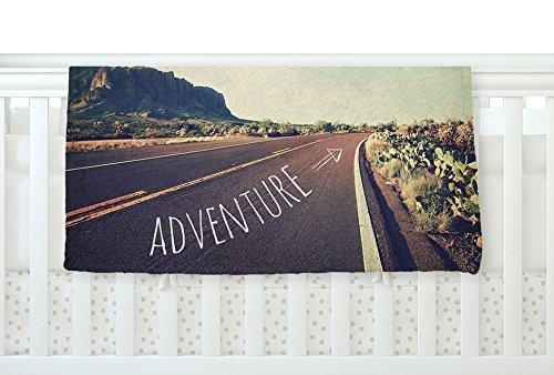 KESS InHouse Sylvia Cook Adventure Desert Road Fleece Baby Blanket 40 x 30 [並行輸入品]   B077YW9W27