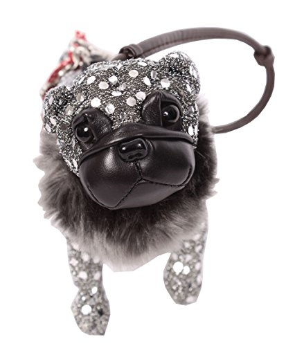 Fuzzy Nation Pug Dog Small Wristlet Zip Coin Purse Plush 7