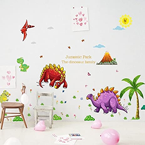 HUGE DINOSAUR WALL STICKERS U2013 BEDROOM DECALS U2013 FOR BOYS U2013 FOR NURSERY U2013  VINYL U2013