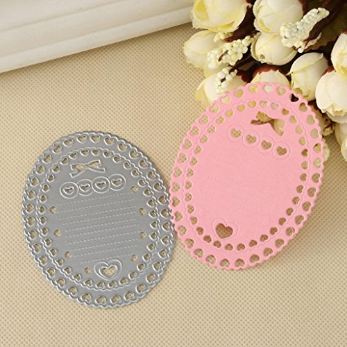 Corsion Metal Cutting Dies Stencils Template Mould For Diy Scrapbooking Photo Album Paper Card Gift Craft Decoration Birthday Festival,Shopping Cart Castle Girl (G) - Design Chipboard Picture Frame