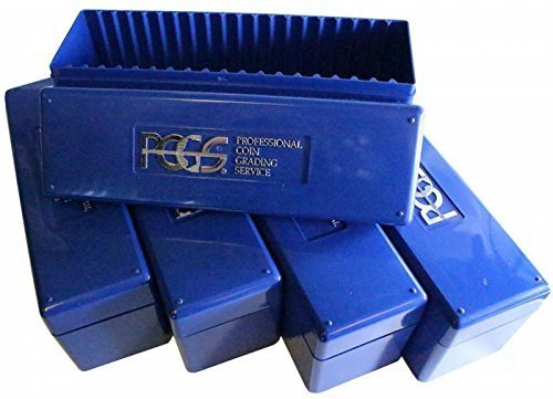5 PCGS Blue Plastic Storage Box for 20 Slab Coin Holders