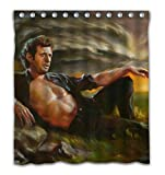 Weckim Custom Storm Kind Men Oil Paiting Waterproof Fabric Shower Curtain Colorful Design Bathroom Decoration Size 66x72 Inches