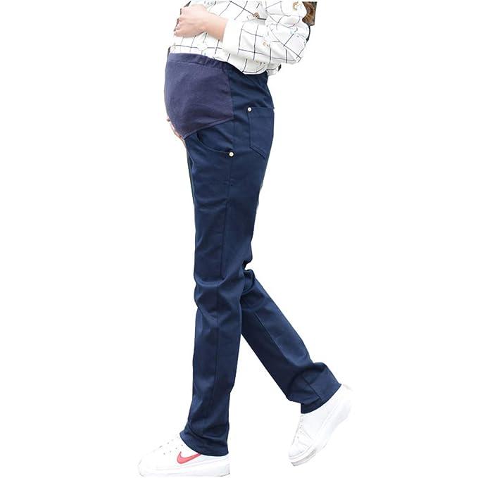 nuovo prodotto 36c84 01d2b Hivia Mama Pantaloni Vita Alta Premaman Elastico Invernali ...