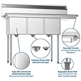 KoolMore - SC121610-12R3 3 Compartment Stainless