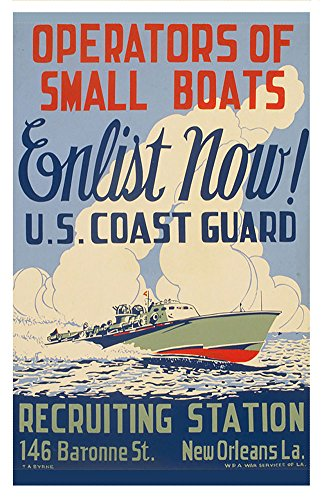 BrotherhoodProducts WWII US Coast Guard Recruiting 11x17 Poster
