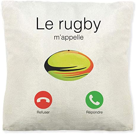 Mygoodprice Coussin Doux Polaire imprim/é Le Rugby mappelle