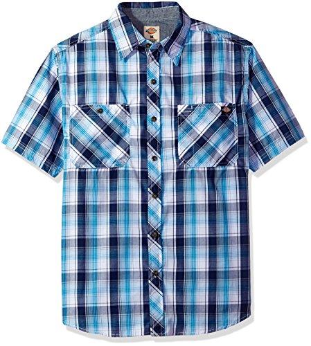 Dickies Men's Short Sleeve Wrinkle Resistant Single Pocket Plaid Shirt supplier