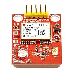 Gowoops GPS Module U-blox NEO-6M with TTL Ceramic Passive Antenna for Arduino Raspberry Pi 2 3 B+ MCU