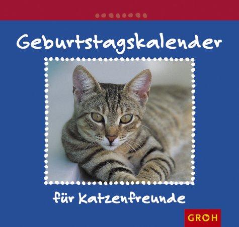 Geburtstagskalender für Katzenfreunde.