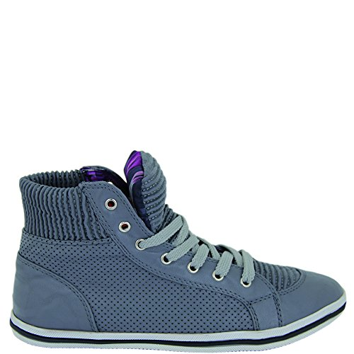 Unbekannt - Zapatos de cordones de Material Sintético para mujer Gris - gris