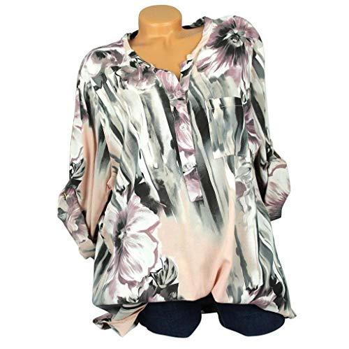 Tops Imprimer V Chemisier T Orange Shirt Innerternet Plus Soie Longues Neck De Blouse Button Femmes Manches Shirt Mousseline Size 6pB0f
