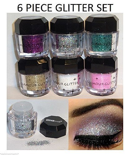 Cosmetics Eye shadow Color Makeup Pro Glitter Eyeshadow Palette 6 -